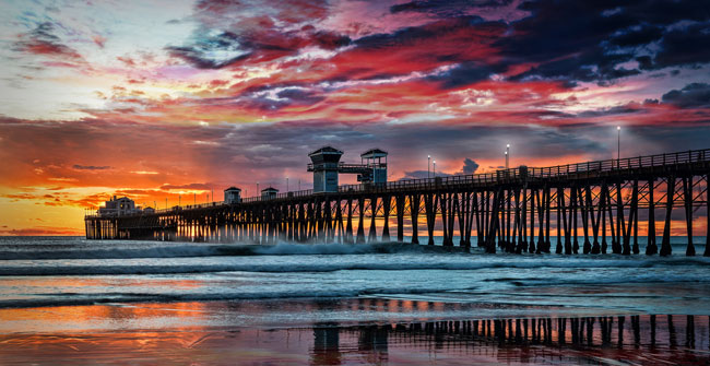 Visit places like the beautiful Oceanside pier!