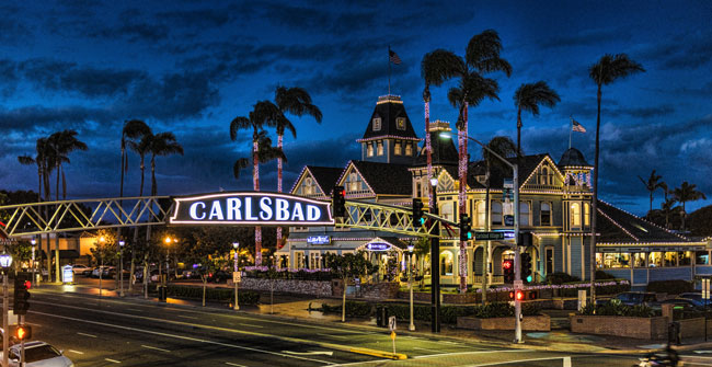 Visit places like Carlsbad!